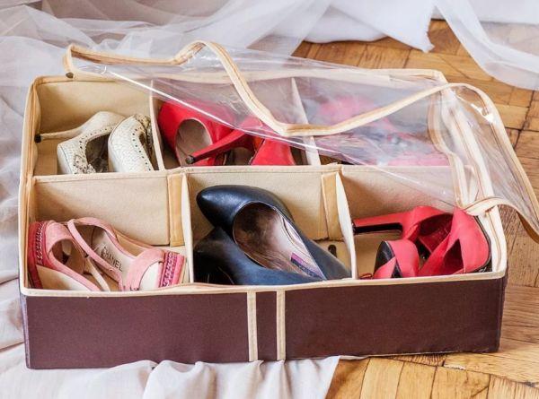 Хранение обуви органайзеры