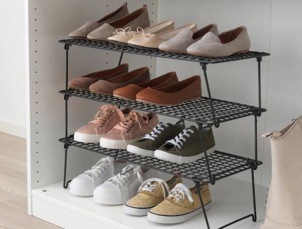 Система хранения обуви в шкафу