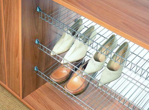 Сетчатые полки под обувь