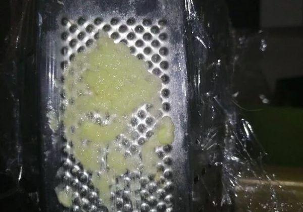 Чеснок на терке