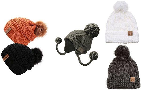 Помпоны на шапках