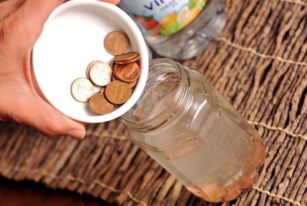 Удаление ржавчины с монет