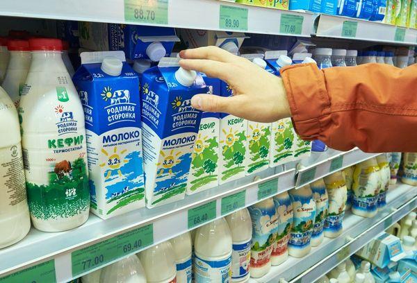 Молочные продукты в супермаркете
