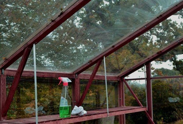 Осенняя обработка теплиц из поликарбоната