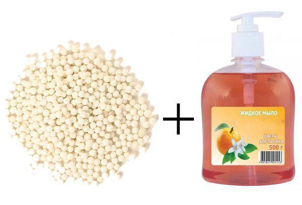 Тапиока + жидкое мыло