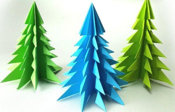 Елка 3д оригами