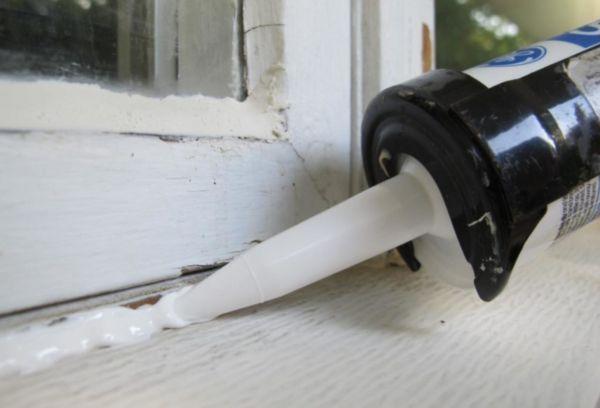 Утепление деревянных окон герметиком
